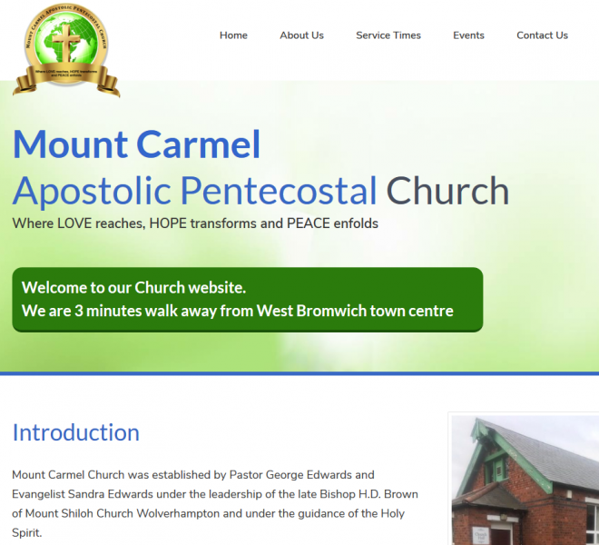 Church Website Designed by Empowerment Website Design
