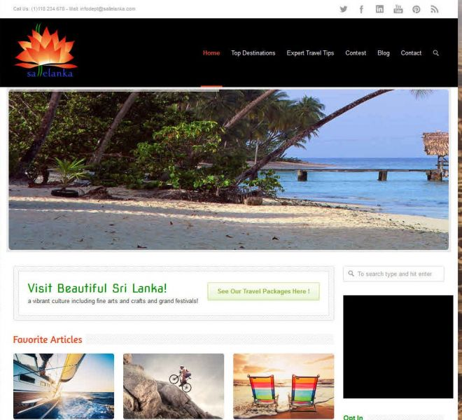 Empowerment Designs travel-website