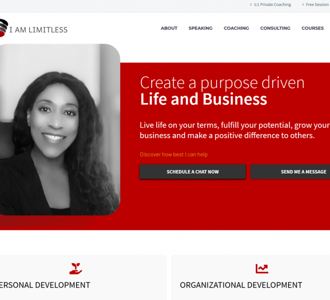 Coaching Website Designed by Empowerment Website Design