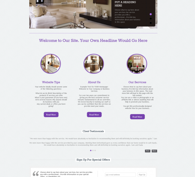 Empowerment Designs Interior Design Website