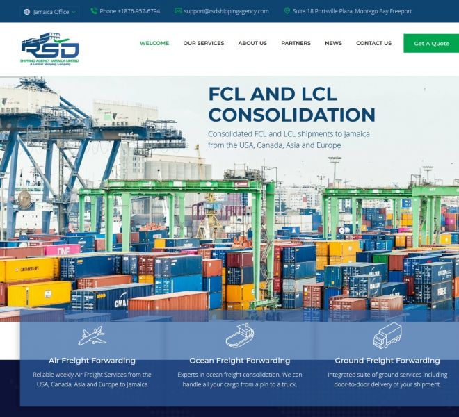 Shipping and Logisitics Website Design - Empowerment Website Design