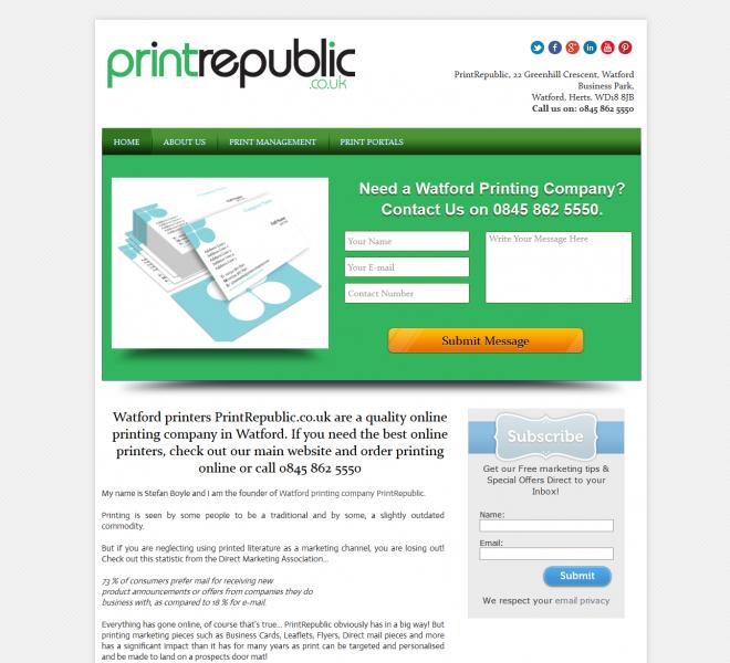 Watford printers PrintRepublic
