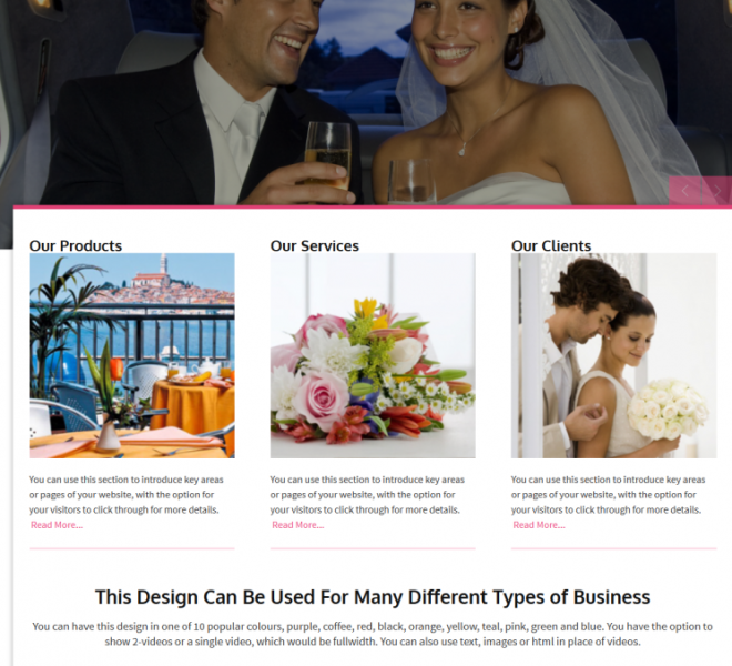 Wedding Websites designed by Empowerment Designs