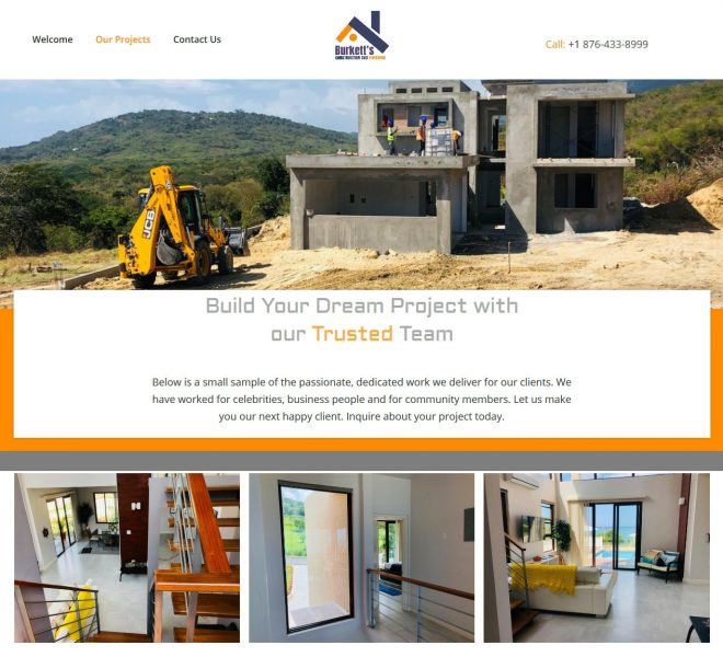 Construction Website Design - Empowerment Designs